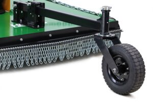 Tractor slasher wheel kit