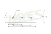 Woodchipper Blades 4 inch Fixed Diagram
