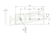 Woodchipper Blades 6 inch Fixed Diagram