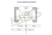 Flail Mower Premium 1600 Mech Cut