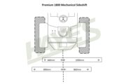 Flail Mower Premium 1800 Mech Cut