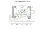 Flail Mower Premium 2000 Mech Cut